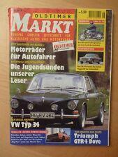 Oldtimer Markt 6/97 VW Karmann 34, Fiat 130, Triumph GTR4 Dove, Dodge Charger
