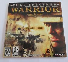 Full Spectrum Warrior Demo Disc PC Brand New Seal in Place Not For Resale