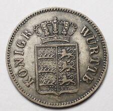 ALLEMAGNE - WURTTEMBERG : 6 KREUZER 1842
