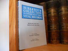 Barbour Connecticut Town Records Branford Bridgeport