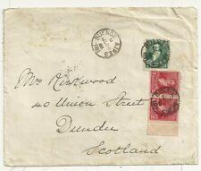 * 1896 MOLTO RARA Dundee punteggiato CERCHIO A7 CD porzione solo sulla COVER EX ARGENTINA