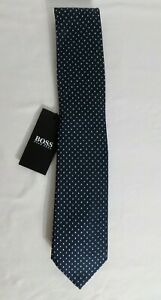 HUGO BOSS BLACK LABEL  POLKA DOTS BLUE MADE IN ITALY#50407397-NWT
