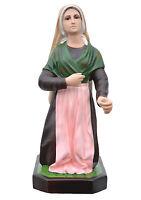 Saint Bernadette Soubirous resina statue cm. 66 con vidrio ojos