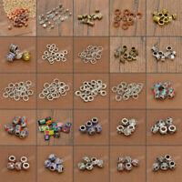 DIY Dread Dreadlock Fabric Wooden Bead Hair Braid Beads Cuff Clips Jewelry Gift