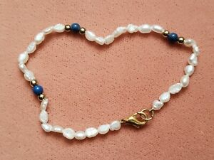 """Hand-Made GENUINE * PEARL * BRACELET 7.25"""", 4-5 mm- Made in USA"""
