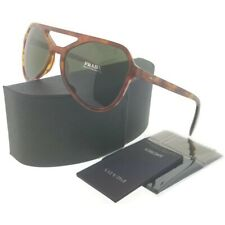 33eba63f66b Prada PR22RS-4BWAJ1 Men s Light Havana Frame Green Lens Genuine Sunglasses  NWT