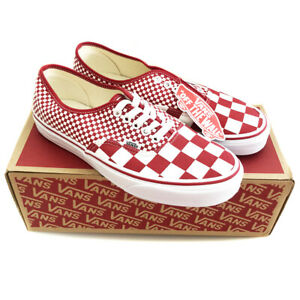 VANS Mix Checker Chili Pepper Red Trainers Shoes Mens UK Size 7.5 (EU 41)