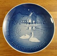 1974 Bing & Grondahl B&G Christmas in the village plate 7 inch plate Denmark