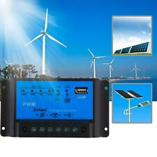 Intelligent 10A PWM Solar Panel Charge Controller 12V Auto Battery Regulator US