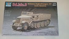 1/72 scale Trumpeter  models  SD.KFZ.9 Schwere Zugkraftwagen 18T Late Version