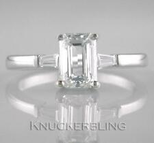 1.91ct Certificated Diamond Solitaire Ring G VVS1 Emerald Cut in 18ct White Gold