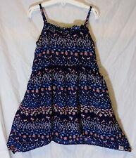 Girls Debenhams Mantaray Blue Ditsy Floral Bird Sleeveless Dress Age 5-6 Years