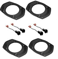 "4pcs FORD 6x9 5x7 6x8 to 5.25"" 6.5"" Car Speaker Adapter Plate With Wire Harness"