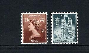1953 QEII Niue (New Zealand) Coronation set of 2 MM