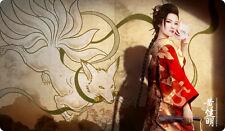 L5R / MTG / CCG Play Mat - Bayushi Misaki, Scorpion Clan Foxwife