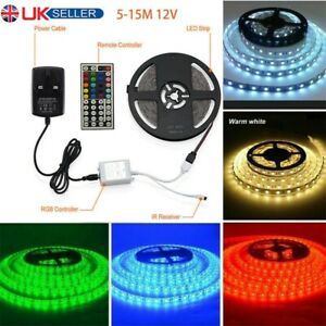 5-15M LED STRIP LIGHTS 5050 RGB COLOUR CHANGING TAPE UNDER CABINET LIGHTING