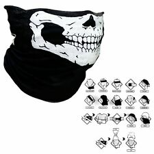 Cool Tubular Skull Mask Bandana Motorcycle Biker Sport Scarf Face Neck Warmer AU