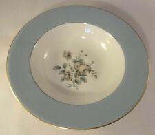 """Royal Doulton Grey Rose Elegans 8"""" Rimmed Soup Cereal Dessert Bowls 1970's"""