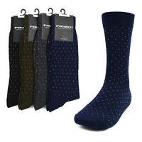 Men's Business Dot Navy Black Gray or Brown Dress Casual Socks 10 - 13 New