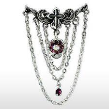 Vintage Crystal & Cross Reverse Chandelier Belly Bar Navel Piercing Dangle (N17)