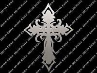 Metal Cross Jesus Christ Religion God Faith Crucifix Gothic Fleur De Lis Celtic