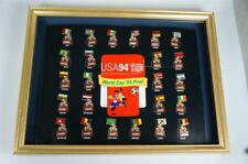 More details for coca cola 1994 world cup pin badges.complete set mounted on offical board.