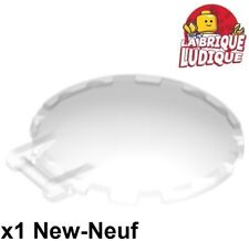 Lego 1x Dish Disc 6x6 Handle Handle Cockpit Windscreen Trans Clear 18675 New