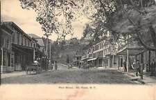 Mt Kisco New York Main Street Scene Store Fronts Antique Postcard K13619