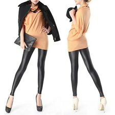 Sexy Women Faux PU Leather Leggings Skinny Pencil Pants Tights Trousers GA