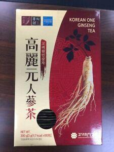 Korean Ginseng Tea Granule Anti-Stress Health Food Extract 100bags x 2Boxes New
