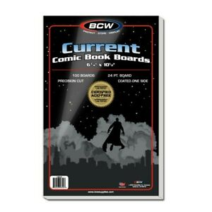 BCW Current Comic Backing Backer Boards Pack of 100 6 3/4 X 10 1/2 Acid Free
