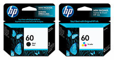 NEW HP 60 COMBO PACK INK CARTRIDGES Black & TRI-COLOR INK