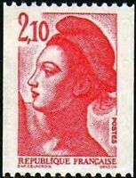 "FRANCE STAMP TIMBRE YVERT N° 2322 "" LIBERTE 2F10 ROUGE DE ROULETTES"" NEUF xx TTB"