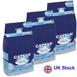 Economy Pack: 3 x 20l Catsan Hygiene Plus Cat Litter 100% Natural Ingredients