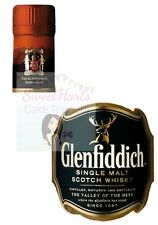 GLENFIDDICH SINGLE MALT WHISKY BOTTLE LABEL EDIBLE ICING CAKE TOPPER DECORATION