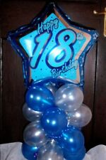 """AGE 18 18TH BIRTHDAY 18"""" FOIL BALLOON TABLE DISPLAY DECORATION AIR FILL R&S"""