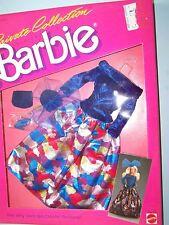 #4512 BARBIE PRIVATE COLLECTION FASHION  (c)1987 - Blue top & metallic skirt