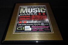 2008 American Music Awards Framed 11x14 Original Advertisement Rihanna Beyonce