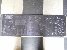 ruger MINI 14 TekMat RIFLE Cleaning Mat Non Slip backing IN BLACK W/PARTS LIST