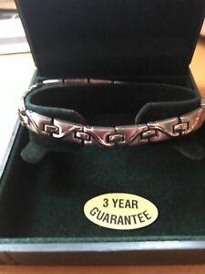 Gents Magna. Power Silver Coulorec  Cross Linked Magnetic Bracelet