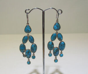 SILPADA W3289 ~ Vieques Earrings ~ Turquoise Sterling Silver Chandelier