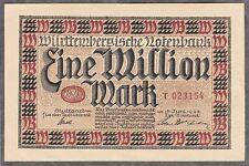 Stuttgart-Wurttemberg banco central - 1 millón de Mark V. 15.06.23 (Ro. wtb17)