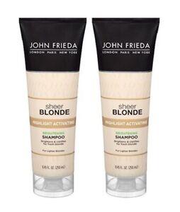 2x John Frieda Sheer Blonde Highlight Activating Brightening Shampoo, 8.45 oz