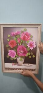 wall picture art/wall decoration/wall art decor/gift/flower vase frame picture