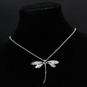 Women Silver Dragonfly Pendant Necklace Sweater Chain Fashion Party Jewelry Gift