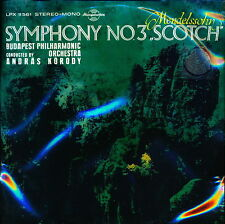 Mendelssohn Symphony No. 3 Scotch András Korody Hungaroton SLPX 11561 LP SEALED