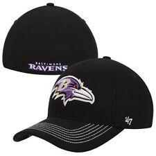 size 40 6e36b 44843 Baltimore Ravens  47 Brand Black Game Time Closer Flex Fit Hat - Black