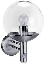 MOTION Sensor OUTDOOR GLOBE LANTERN PIR Garden WEATHERPROOF ROUND Security Light