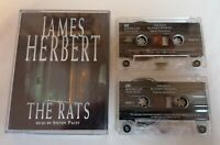 AUDIO BOOK CASSETTE - The Rats By James Herbert Read By Steven Pacey X2 Tapes