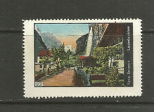 Switzerland poster stamp/label (#22 Lauterbrunnen)